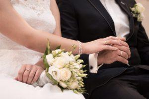 zoom couple de mariée