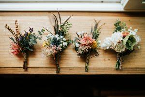boutonnières fleurs mariage